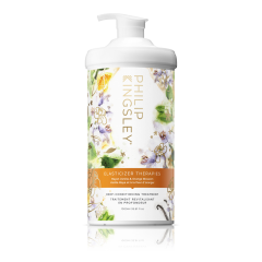 1L of Elasticizer Therapies Mayan Vanilla and Orange Blossom in a pump bottle great for Aromatherapy for its calming and sweet scent.